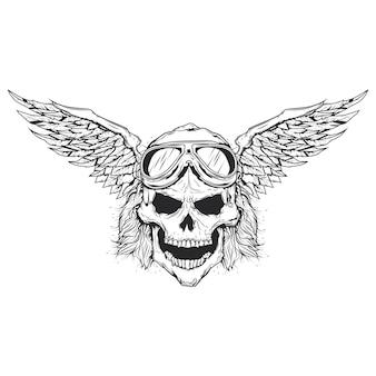 Ilustracja wektorowa czaszki