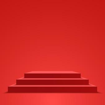Ilustracja wektorowa czerwonego podium na cokole
