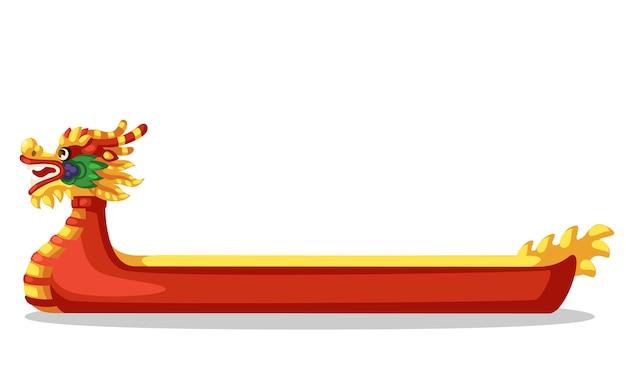 Ilustracja wektorowa czerwony statek smoka