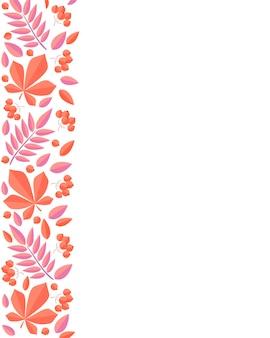 Ilustracja wektorowa dekoracji jesiennych liści jesienne kartki z życzeniami idealne do druku ulotek