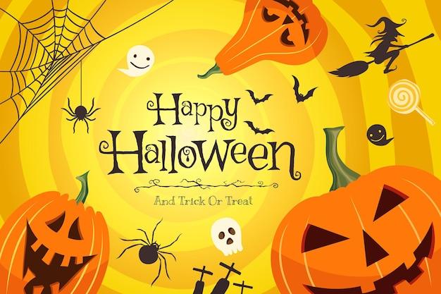 Ilustracja wektorowa dekoracji koncepcja happy halloween.