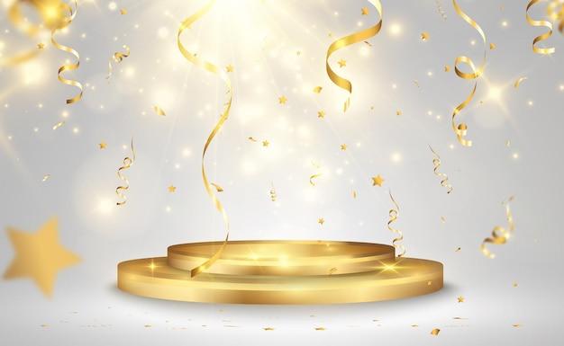 Ilustracja wektorowa dla zdobywców nagród cokół lub platforma do uhonorowania zdobywców nagród