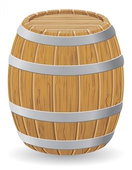 Ilustracja wektorowa drewniana beczka