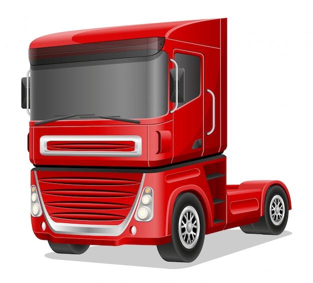 Ilustracja wektorowa duża czerwona ciężarówka
