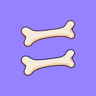 Ilustracja wektorowa dwie kości na izolowanym obiekcie