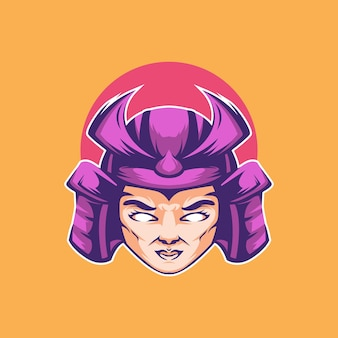Ilustracja wektorowa dziewczyny samuraj