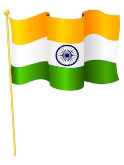 Ilustracja wektorowa flagi narodowej indii
