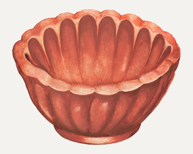 Ilustracja wektorowa formy galaretki w stylu vintage, zremiksowana z grafiki autorstwa anny aloisi