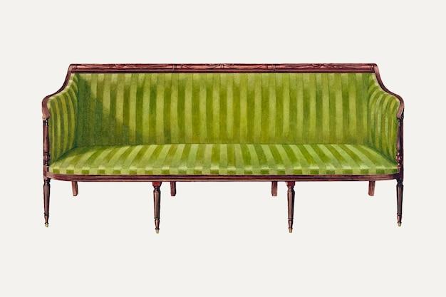 Ilustracja wektorowa fotela w stylu vintage, zremiksowana z dzieła ferdinanda cartiera