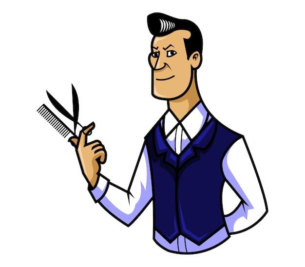 Ilustracja wektorowa fryzjera