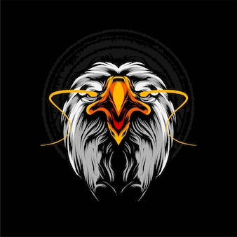 Ilustracja wektorowa głowa orła. nadaje się do t-shirtów, nadruków i produktów odzieżowych