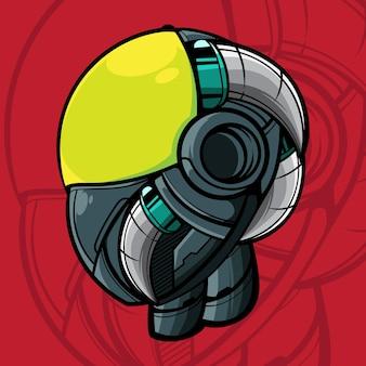 Ilustracja wektorowa głowy robota