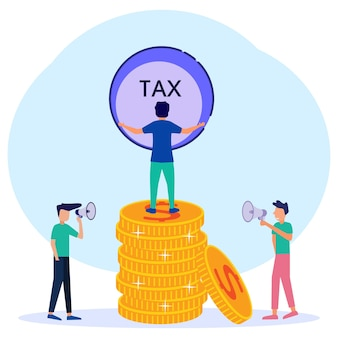 Ilustracja wektorowa graficzny kreskówka płacić podatki