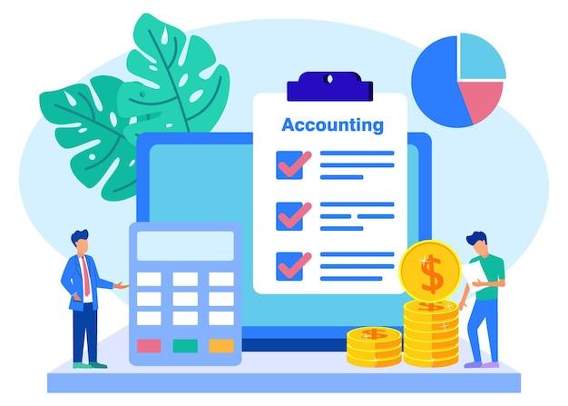Ilustracja wektorowa graficzny postać z kreskówki rachunkowości