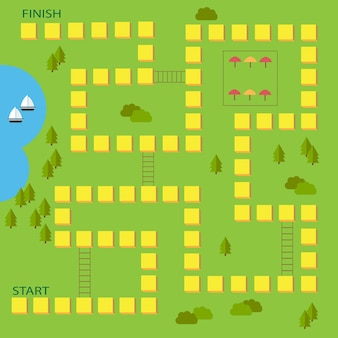 Ilustracja wektorowa gry planszowej dla dzieci