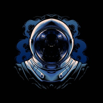 Ilustracja wektorowa hełm astronauty