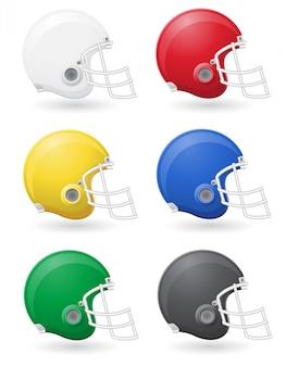 Ilustracja wektorowa helments futbolu amerykańskiego