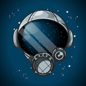 Ilustracja wektorowa hełmu astronauty