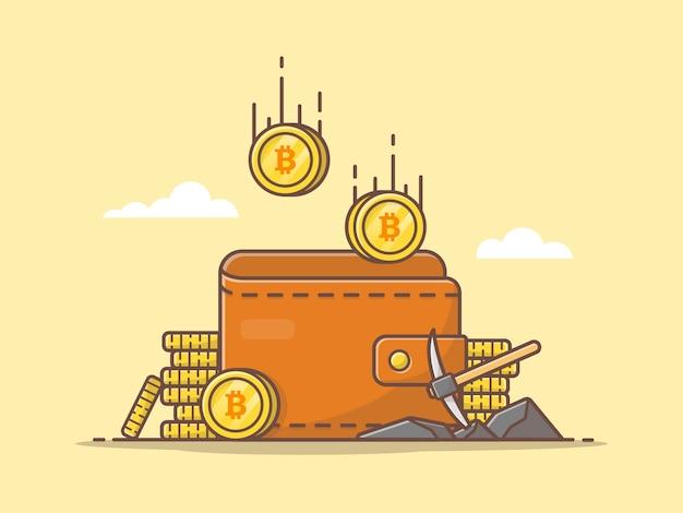 Ilustracja wektorowa ikona kryptowaluty