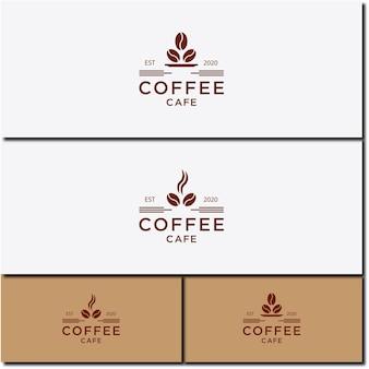 Ilustracja wektorowa ikony filiżanki gorącej kawy zestaw projektowania logo