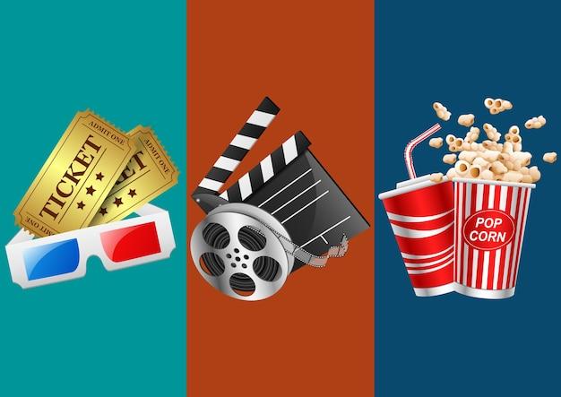 Ilustracja wektorowa ikony filmu