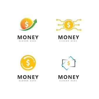 Ilustracja wektorowa ikony pieniędzy. abstrakcyjna ilustracja waluty dolara i wektor ikona