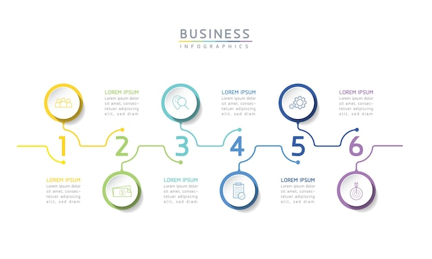 Ilustracja wektorowa infografiki szablon projektu prezentacja biznesowa3 opcje lub kroki