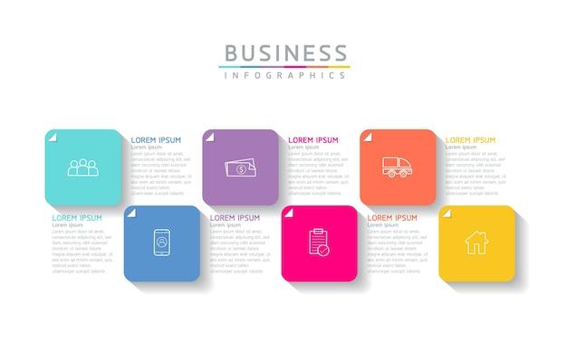Ilustracja wektorowa infografiki zaprojektuj szablon informacji marketingowych z 6 opcjami lub krokami