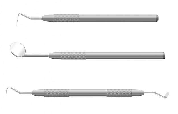 Ilustracja wektorowa instrumentów stomatologicznych