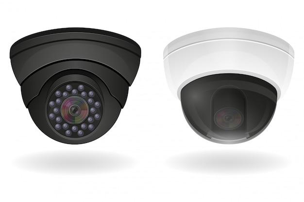 Ilustracja wektorowa kamery nadzoru
