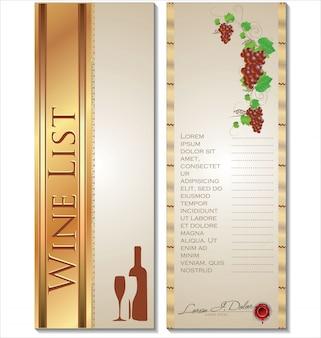 Ilustracja wektorowa karta wina