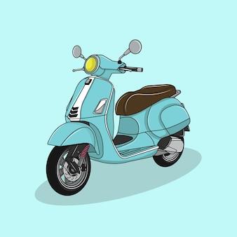 Ilustracja wektorowa kolorowego motocykla