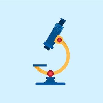 Ilustracja wektorowa kolorowy mikroskop w stylu płaski