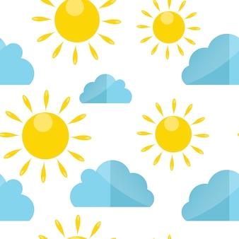 Ilustracja wektorowa kolorowy wzór pogody. eps10