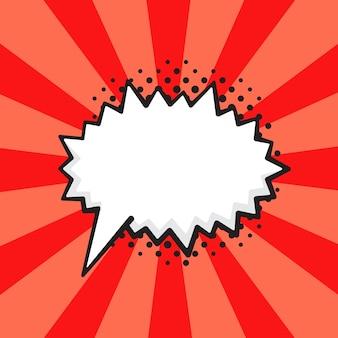 Ilustracja wektorowa komiks dymek o kłującym kształcie krzyku w stylu pop-art