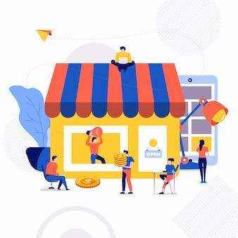 Ilustracja wektorowa koncepcja biznesowa.
