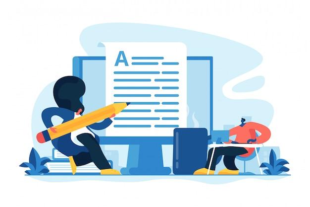 Ilustracja wektorowa koncepcja copywriting