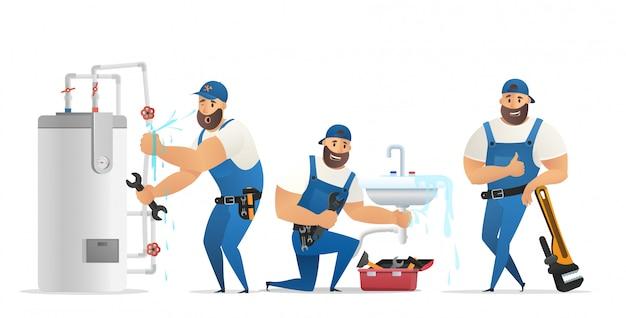 Ilustracja wektorowa koncepcja hydraulik usługi