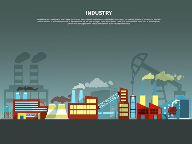 Ilustracja wektorowa koncepcja przemysłu