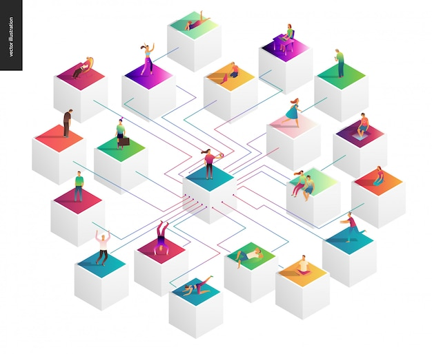 Ilustracja wektorowa koncepcja sieci