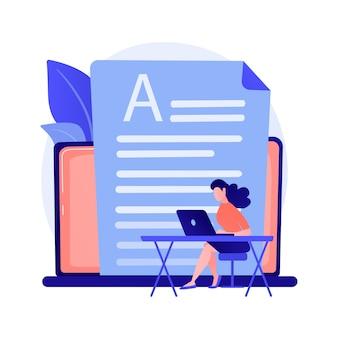 Ilustracja wektorowa koncepcja streszczenie usługi deski rozdzielczej. mechanizm raportowania online, kluczowe wskaźniki wydajności, narzędzie do obsługi pulpitu, metryki danych, abstrakcyjna metafora zarządzania informacjami.