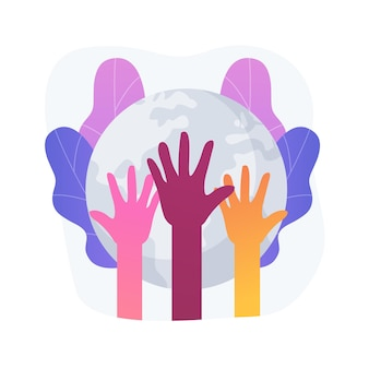 Ilustracja wektorowa koncepcja wyścigu streszczenie. dyskryminacja rasowa, prawa człowieka, kolor skóry, różnorodność ludzka, kod genetyczny, rasizm i równość rasowa w miejscu pracy, abstrakcyjna metafora sprawiedliwości społecznej.