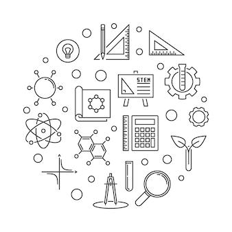 Ilustracja wektorowa koncepcja zarys koncepcji okrągły