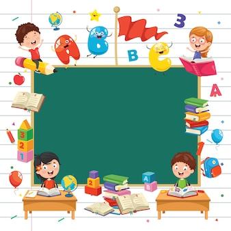 Ilustracja wektorowa koncepcji edukacji dzieci