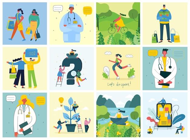 Ilustracja wektorowa koncepcji pracy zespołowej, biznesu i projektowania środowisk w płaskim stylu