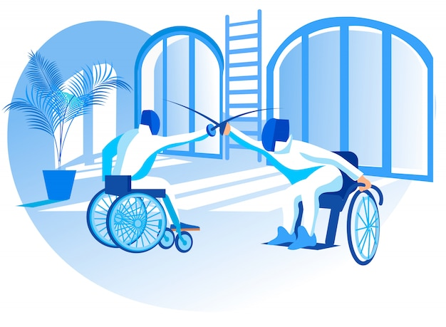 Ilustracja wektorowa konkurs paraolimpijski flat.