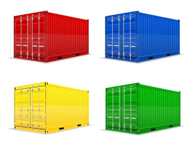 Ilustracja wektorowa kontener ładunku