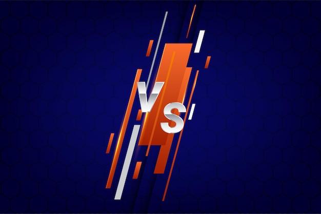 Ilustracja wektorowa kontra ekran do walki