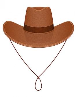 Ilustracja wektorowa kowbojski kapelusz