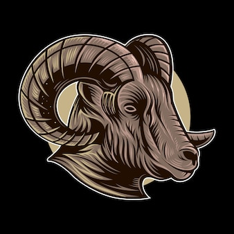 Ilustracja wektorowa koza baran